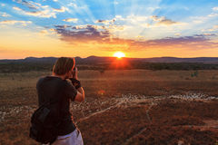 Sunset photographing Stock Photography
