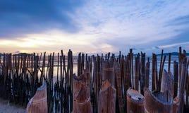 Sunset photography. On sea coast Stock Photo