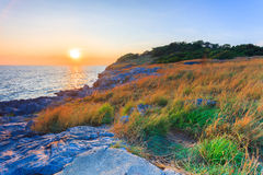 Sunset at Phromthep Cape. Thailand Royalty Free Stock Image