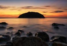 Sunset at phuket Stock Images