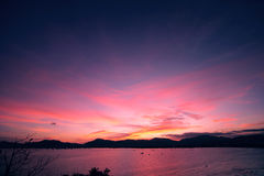 Sunset on the Phuket island of Thailand, Asia royalty free stock photos