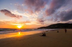 Sunset in Phuket, Thailand Royalty Free Stock Photography
