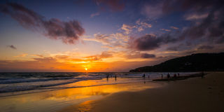 Sunset in Phuket, Thailand Stock Photo