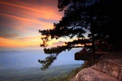 Sunset. Phukradueng National Park of Thailand Stock Photography