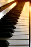 Sunset piano Stock Photos
