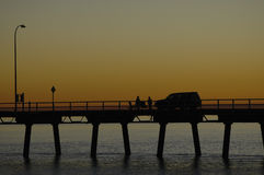 Sunset Picnic Stock Photography