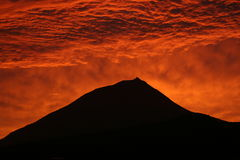 Sunset at pico island Stock Images