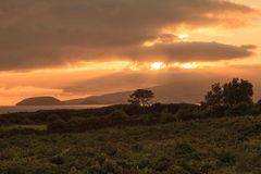 Sunset on Pico Island, Azores Stock Images