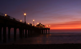 Sunset at the Pier Royalty Free Stock Photography