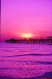 Sunset On A Pier Stock Photography