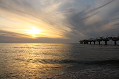 Sunset from the Pier Royalty Free Stock Photo