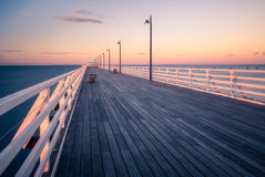 Sunset on the Pier Stock Photography