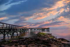 Sunset Pier Royalty Free Stock Photography