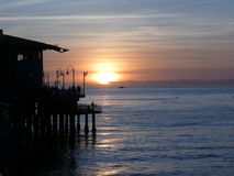 Sunset at the Pier. Pacific ocean pier at sunset Stock Photography