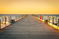 Sunset pier at Saltburn by the Sea Stock Photos