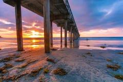 La Jolla Beach Sunset Stock Photography
