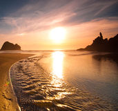 Sunset at Piha Royalty Free Stock Image