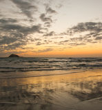 Sunset at Piha Stock Image