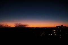 Sunset in Pilsen Stock Photography