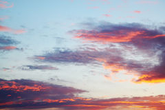 Sunset in pink and lilac tones Stock Photo