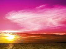 Sunset and pink magenta tone in evening Royalty Free Stock Photos