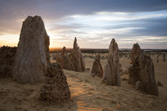 Sunset in the pinnacles Royalty Free Stock Image