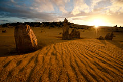 Sunset at the Pinnacles Royalty Free Stock Images