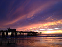 Sunset at Pismo Beach Royalty Free Stock Image