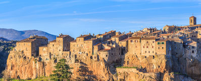 Sunset in pitigliano Stock Photography