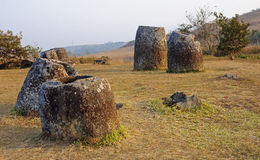 Sunset in Plain of Jars, Royalty Free Stock Photography