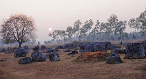 Sunset in Plain of Jars, Stock Images