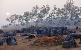 Sunset in Plain of Jars, Stock Photos