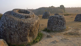 Sunset in Plain of Jars, Royalty Free Stock Photo