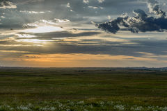 Sunset on the Plains Stock Photo
