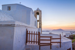 Sunset in Plaka Royalty Free Stock Photos