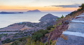 Sunset in Plaka Royalty Free Stock Photography