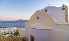 Sunset in Plaka stock photo