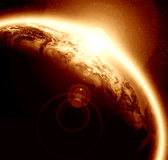 Sunset on planet earth Royalty Free Stock Image