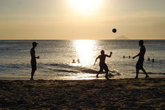 Sunset players 01 Royalty Free Stock Photo