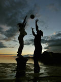 Sunset players Royalty Free Stock Photos