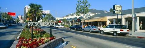 Sunset Plaza, Sunset Blvd, Los Angeles, California Royalty Free Stock Image