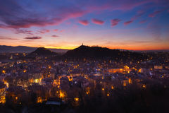 After sunset in Plovdiv Royalty Free Stock Image