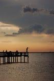 sunset połowów Zdjęcie Royalty Free