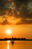 sunset pożeglować jacht Obrazy Royalty Free