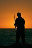 sunset połowów Fotografia Stock