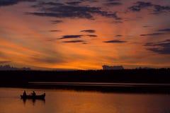sunset połowów Obraz Royalty Free