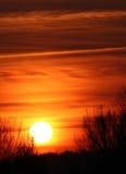 sunset pochmurno zdjęcie royalty free
