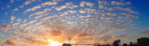 sunset pochmurno Zdjęcia Stock