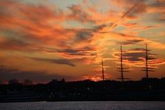 sunset pochmurno Obraz Royalty Free