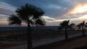 sunset pochmurno Zdjęcie Stock